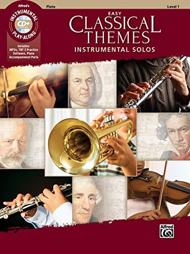 Easy Classical Themes Instrumental Solos: Flute (incl. CD) - Für Flöte Anfänger-musik-bücher