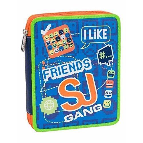 Astuccio SJ Maxi Boy azzurro SJ Gang 2 Zip