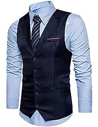 YCHENG Uomo V Vestito Elegante Gilet Scollo a della Maglia Alla Moda Smanicato Corpetto Suit Vest