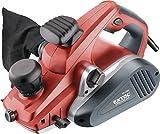 Extol Premium Handhobel, 1300 W, Hobelbreite 110 mm, 0-3,5 mm Spandicke, Parallelanschlag, Staubbeutel, 1 Stück, rot, 8893403