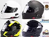 VIPER NUEVO TECNOLOGÍA RS-V171 BLUETOOTH 3.0 INTERPHONE MODULARES INTEGRADO MOTO CASCO (L (59-60 cm), NEGRO BRILLANTE)