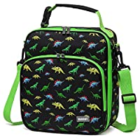 Lunch Bag for Kids, VASCHY Reusable Lunch Box Containers for Boys and Girls with Detachable Shoulder Strap, Insulated Lunch Cooler Bag for School