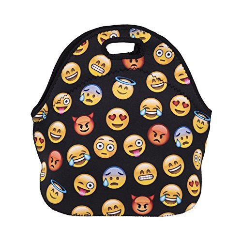Zmvise Cry emoji Smile Face Rainbow Party Lunch Tote isotherme réutilisable Picnic Lunch Sacs Boîtes pour homme femme adultes enfants Toddler infirmières