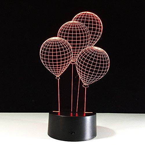 Ballon Électrique Coloré Lampe 3D Table De Commande À Distance Booth Veilleuse Lampes De Table 7 Lampe De Bureau À Changement De Couleur
