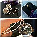 Pissenlit collier et boucle d'oreilles ENSEMBLE-CADEAU avec chaîne en ARGENT STERLING Boucles d'oreilles pissenlit pendentif pissenlit assortiment de bijoux