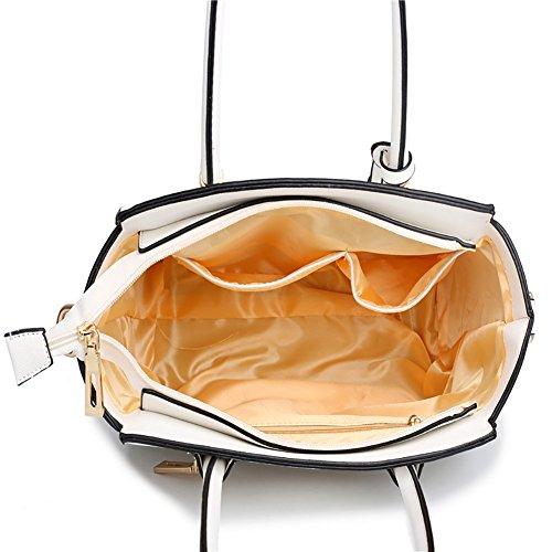 Plover Donna pelle sintetica borsetta Borse a tracolla Borse Messenger Borse cross-body white