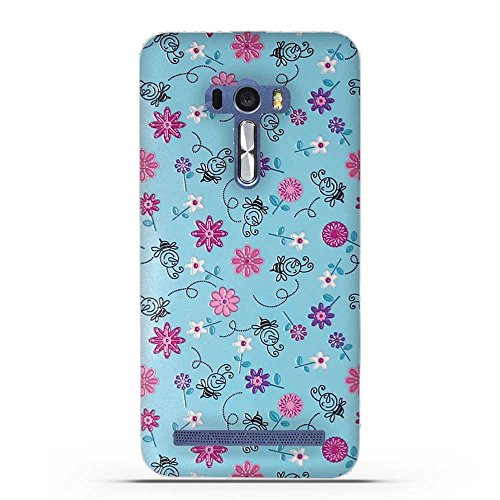 Fubaoda ASUS ZenFone Selfie ZD551KL Hülle, 3D Erleichterung Bunte Blumen Muster TPU Case Schutzhülle Silikon Case für ASUS ZenFone Selfie ZD551KL