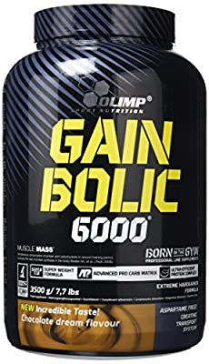 Olimp Gain Bolic 6000 Mass Gainer Supplement, 3500 g, Chocolate Flavour from Olimp Labs