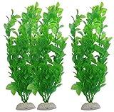 Tefamore - 3 accessori per acquario, piante decorative per acquario dei pesci