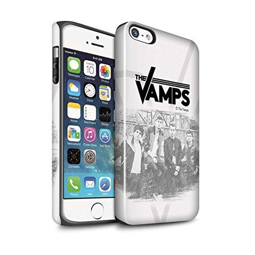 Officiel The Vamps Coque / Brillant Robuste Antichoc Etui pour Apple iPhone SE / Pack 6pcs Design / The Vamps Séance Photo Collection Esquisser