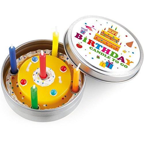 Doneky 220451 Bougie pour anniversaire en forme de gâteau 4260108042371