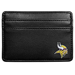 NFL Minnesota Vikings Leather Weekend Wallet, Black