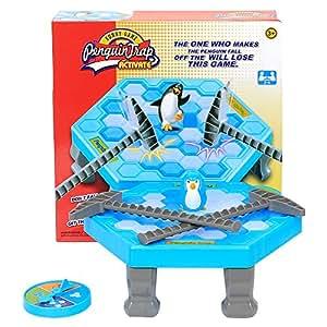 Pinguin Trap Tischspiel Desktop Spiel , Jspoir Melodiz Balance Eiswürfel Speichern der Pinguin, Eis Brechen Interaktive Party-Spiel,Pinguin fällt Familie Spiele Ab 3 Jahren