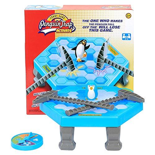 Jspoir Melodiz Pinguin Rettenspiel Fallespiel Tischspiel, Strategie Spielzeug, Eiswürfel Schlag, Das Eis Aufhacken, Geschicklichkeitsspiel Familienspiel (Ab 3 Jahren)