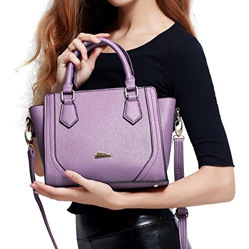 DISSA S878 neuer Stil PU Leder Deman 2018 Mode Schultertaschen handtaschen Henkeltaschen,330×120×230(mm) Violett