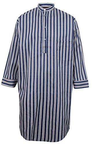 Chemise de nuit à rayures pour homme - 100% coton (L)