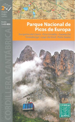 Alpine National Park (Picos de Europa National Park 1:40.000 Satz 2 topographische Wander-und Radwanderkarten (Spanien, Kantabrien) ALPINA)