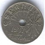 ESPAÑA 25 CENTIMOS 1937 FRANCISCO FRANCO