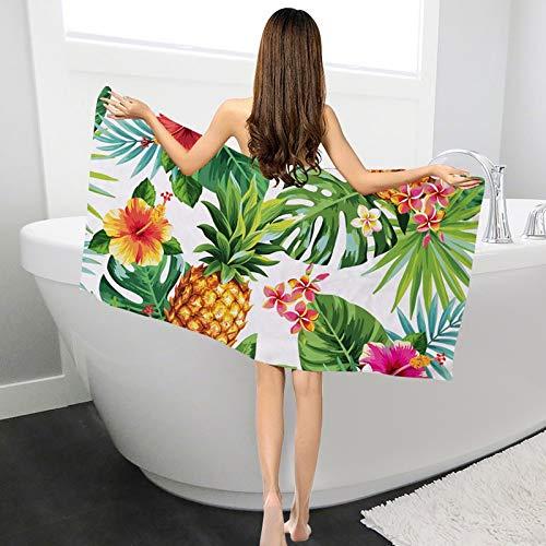 YKDDYJ Badetuch Badetuch Für Frauen Sommer Strandtuch Saugfähige Tropische Pflanzen Gedruckt Badetücher Trocknen Waschlappen Luxuriöse Und Weiche Baumwolle Badetuch 700x350mm 3 -