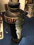 Bar Vitrine Medusa Amphore Vase mit Licht Regal Glasregal Bodenvase 6973 k2+50