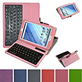 Acer Iconia One 8 B1-850 Bluetooth Keyboard Case,Mama Mouth Coustom Design Slim Stand PU Leather Cover With Romovable Bluetooth Keyboard For 8
