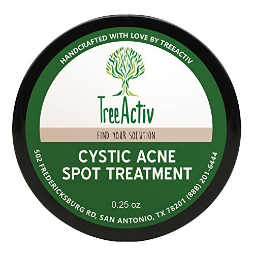 Treeactiv+ Treeactiv Cystic Acne Spot Treatment,Best Extra Strength Fast Acting Formula For Clearing Severe Acne From Face And Body,Gentle Enough For Sensitive Skin,Adults,Teens,Men,Women(0.25 Ounce) -