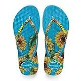 Havaianas Slim Sensation Flat Flip Flop UK 6/7 - Bra 39/40 Turquoise
