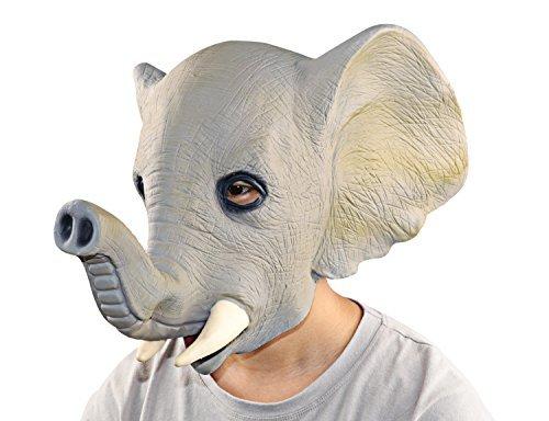 Tiere Maske, XIAO MO GU Latex Maske für Halloween Tiermaske Erwachsenen Kostüm Zubehör für Fasching Karneval ( (Latex Masken Tier)