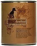 Dogz finefood Hundefutter No.8 Pute & Ziege 800 g, 6er Pack (6 x 800 g)