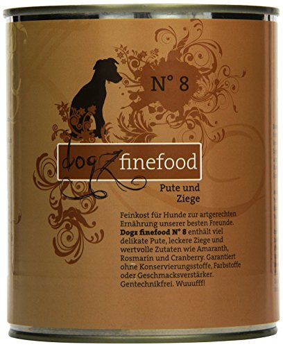 Dogz finefood Cani mangime No. 8Tacchino & Capra 800G, Confezione da (6X 800G)