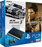 PlayStation 3 - Konsole Super Slim 500 GB (inkl. DualShock 3 Wireless Controller + Uncharted 3 GOTY + Gran Turismo 5 - Academy Edition)