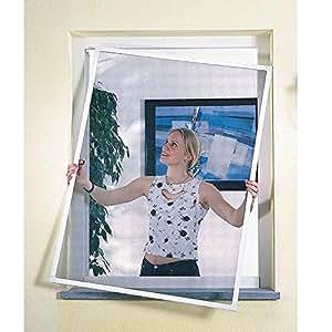 Moustiquaire fenêtre cadre alu 120 x 150 cm