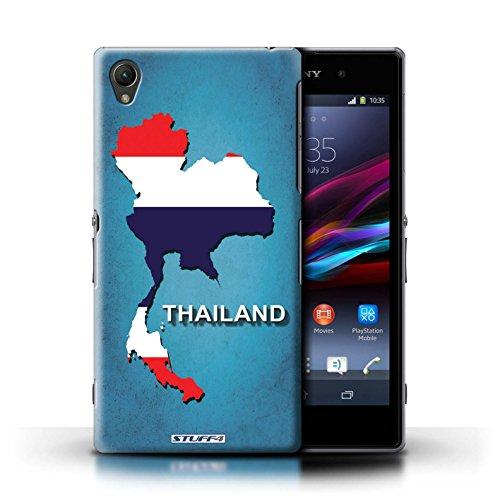 Kobalt® Imprimé Etui / Coque pour Sony Xperia Z1 / Amérique/Américain/USA conception / Série Drapeau Pays Thaïlande/Thai