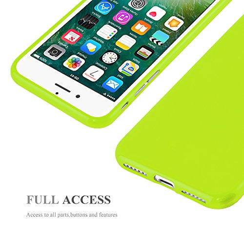 Cadorabo - Ultra Slim TPU Jelly Coque Etui Housse Gel (silicone) pour Apple iPhone 7 - Coque Case Cover Bumper en JELLY-JAUNE JELLY-VERT