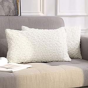 Miulee housse de velours nuage d coratif canap outgeek home decor taie d 39 oreiller super doux for Housse canape velours
