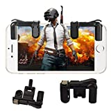 Cirez PUBG Gaming Joystick Trigger for Mobile Controller Fire Button Assist Tool for Oneplus 5T (Black)