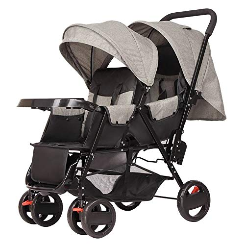 Pink day Kinderwagen Zwillingskinderwagen Das Sitzen vorne und hinten kann flach und leicht klappbar sei