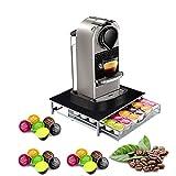 Kaffeemaschine Ständer Kapsel Pod speicherunterstützung kompatibel Halterung aus Metall Schublade für Nespresso Dolce Gusto 36pods