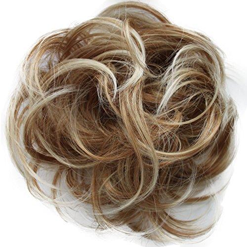 Prettyshop crocchia effetto spettinato parrucchino coda di cavallo extensions blond ricci g13b_27t613