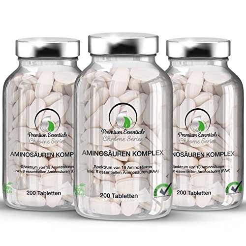 Aminosäuren Hgh (Aminosäuren-Komplex, 200 Tabletten (vegan) á 1000mg, made in Germany)