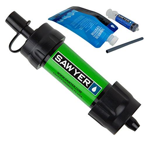Sawyer MINI PointONE Wasserfilter für Outdoor Camping Wasseraufbereitung , Grün -