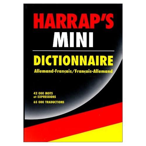 Harrap's mini. Dictionnaire Allemand-Français, Français-Allemand.