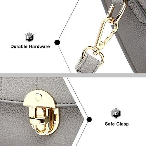 Yoome Elegante Borsa A Tracolla Retrò A Tracolla Modello Crosscase Per Donna Borsa A Mano Clutch Bag Tote - Grigio Navy