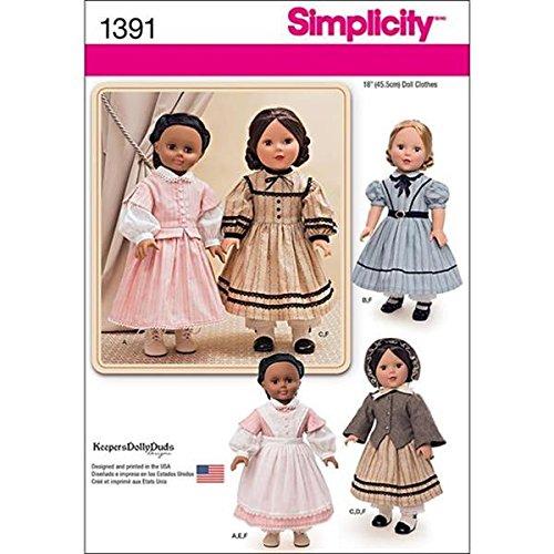 Simplicity us1391os Größe OS Bürgerkrieg Puppe Kostüm für (Bürgerkrieg Kleid)