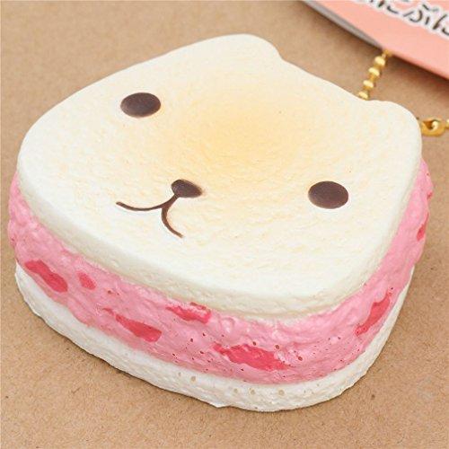 Colgante blando Squishy sandwich de galleta crema y rosa con Kapibarasan