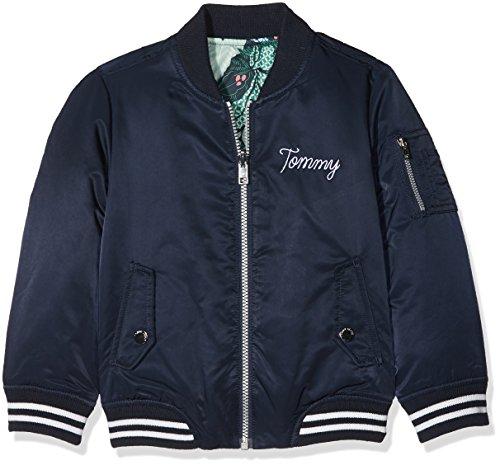 Tommy Hilfiger Mädchen Jacke Thkg DG Reversible Bomber 26, Blau (Navy Blazer 431), 176 (Herstellergröße: 16) (Jacke Reversible Mädchen)