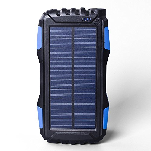 Eignet High Capacity Trekking, Hiking, Tour, Travel, Trips 25000mAh Solar Power Bank (Blue)