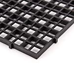 Wetrys 6 Pcs Grid Isolate Board Divider Fish Tank Bottom Black Filter Tray Aquarium Crate 10