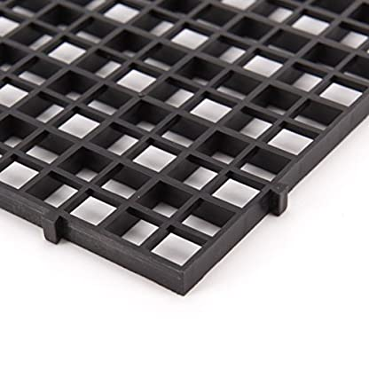 Wetrys 6 Pcs Grid Isolate Board Divider Fish Tank Bottom Black Filter Tray Aquarium Crate 4