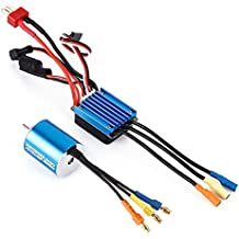 BEETEST 1/18 RC coche todoterreno camiones 2430 7200KV P 4 sensores RC Brushless Motor + variador de 25A Brushless Motor ESC Electric
